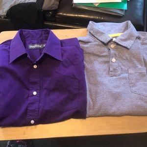 Boys collared polo shirts